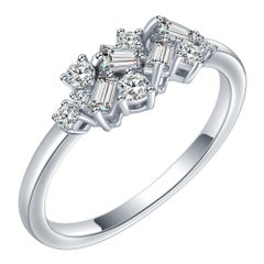 Hestia Eternity Diamond Cluster White Gold Modern Ring Alternative Bridal