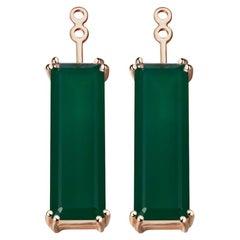 Hestia Modern Green Agate Gemstone Marilyn Earring Extenders