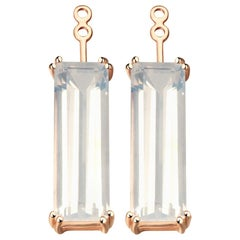 Hestia Modern Sunflower Quartz Gemstone Marilyn Earring Extenders