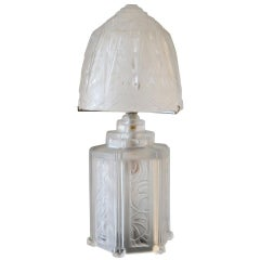 Hettier and Vincent French Art Deco Boudoir Lamp