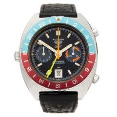 Heuer Autavia GMT Stainless Steel 11630 Wristwatch