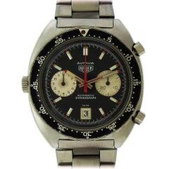 Heuer Stainless Steel Autavia Chronograph Automatic Wristwatch, circa 1970s