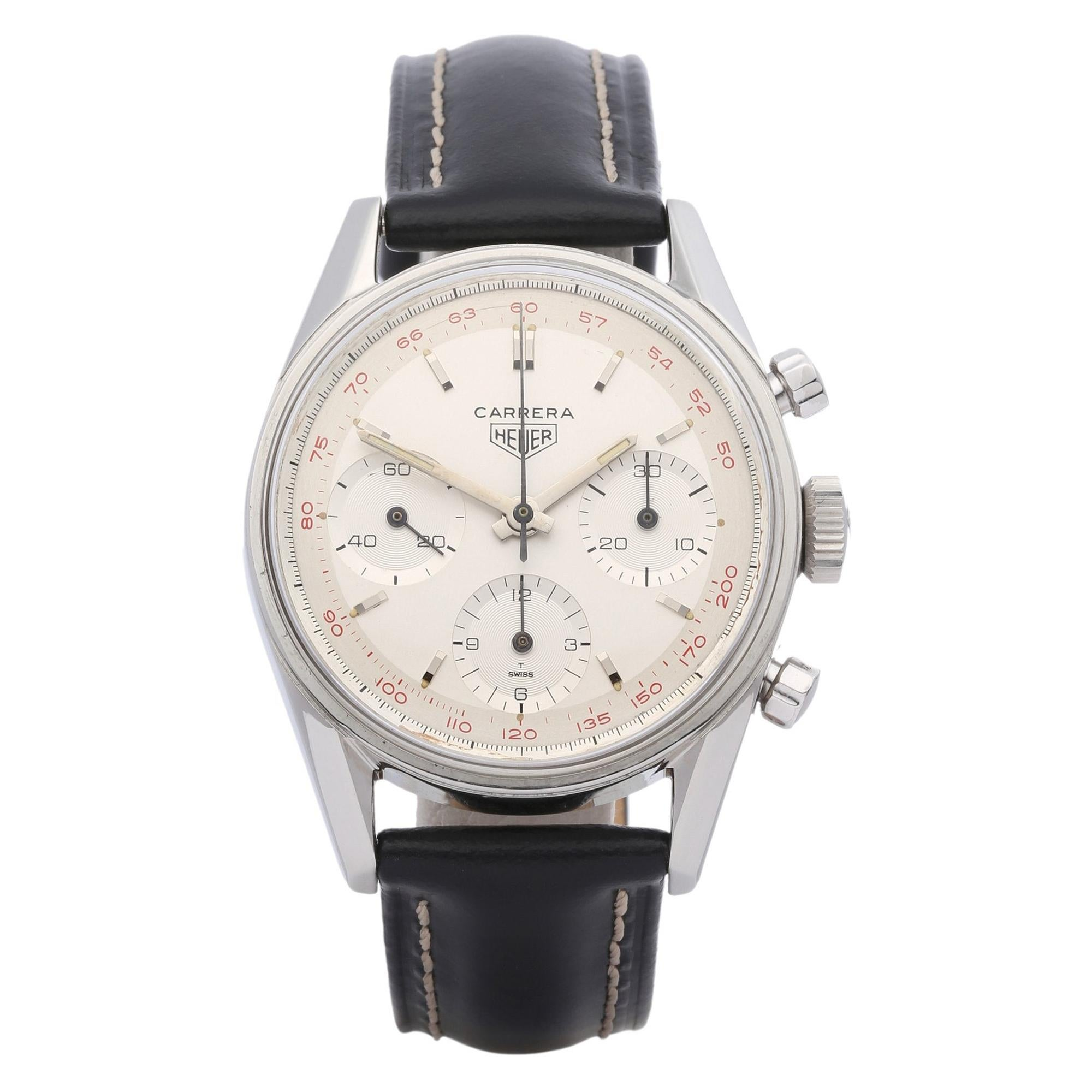 Heuer Carrera 2447T Men Stainless Steel Chronograph Watch