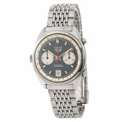 Heuer Carrera Automatic Chronograph Men's Vintage Watch Stainless Steel