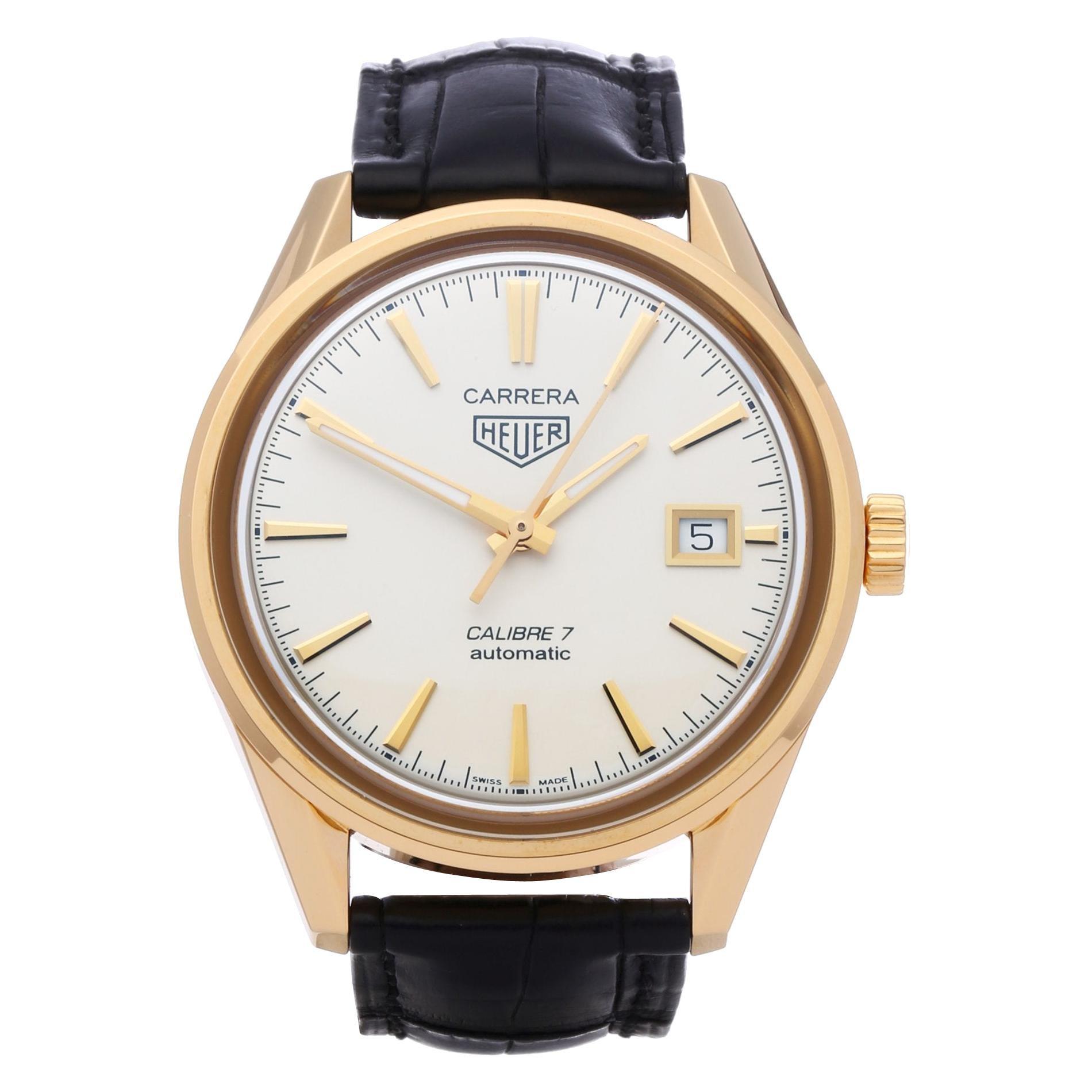Heuer Carrera Calibre 7 WAR2140 Men's Yellow Gold Watch