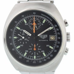 Heuer Lemania 510.500 with Band and Black Dial Certified Pre-Owned