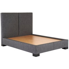 Hewes Bed Wood Legs, Headboard