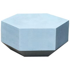Indoor or Outdoor Concrete Hex-Coffee Table, 24 cm tall