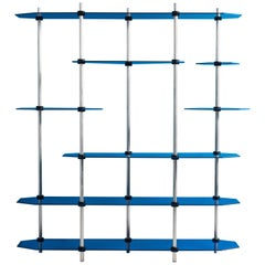 Hex Shelving in Metallic Blue Glaze by Birnam Wood Studio