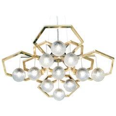 Hexagon Chandelier with Ballotton Spheres