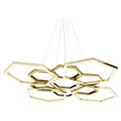 Hexagon Gold Chandelier