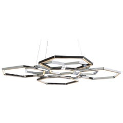Hexagon Nickel Chandelier