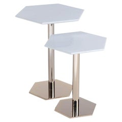 Hexagon Set of 2 Side Tables #174