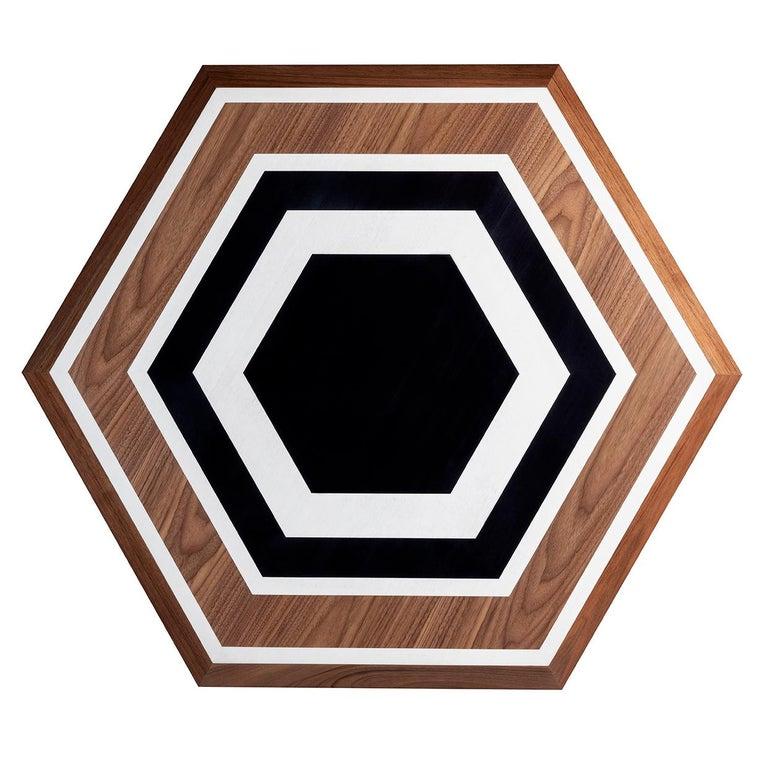 Modern Hexagon Table For Sale