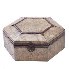 Hexagonal Arts & Crafts Shagreen casket, English, circa 1890
