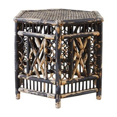 Hexagonal Bamboo Brighton Chinese Chippendale Drink Table