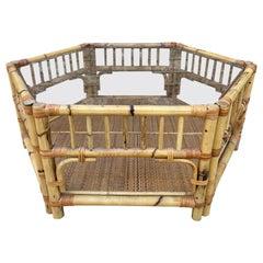 Hexagonal Bamboo Coffee Table