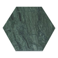 Hexagonal Green Marble Plate with Cork
