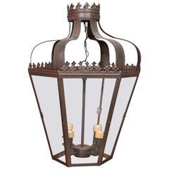 Hexagonal Iron Four-Light Lantern