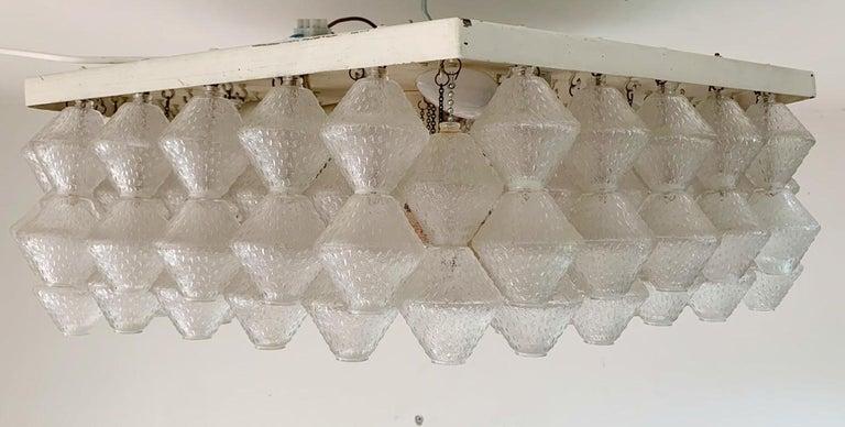 20th Century Hexagonal Murano Flush Mount by Venini For Sale