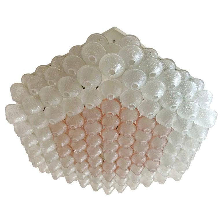 Hexagonal Murano Flush Mount by Venini For Sale
