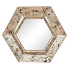 Hexagonal Reverse Painted Mirror