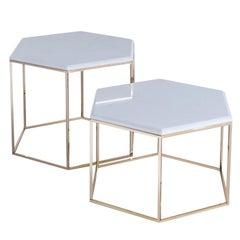 Hexagonal Set of 2 Side Tables #178