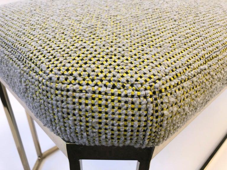 Hexagonal Shape Brass Bench by Milo Baughman For Sale 4