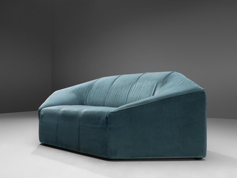 Hexagonal Sofa with Pair of Side Tables For Sale 1