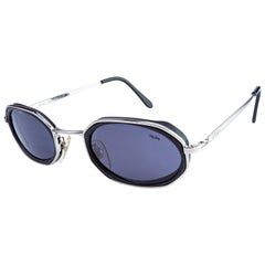 Hexagonal vintage sunglasses by Lozza, Italy 80s