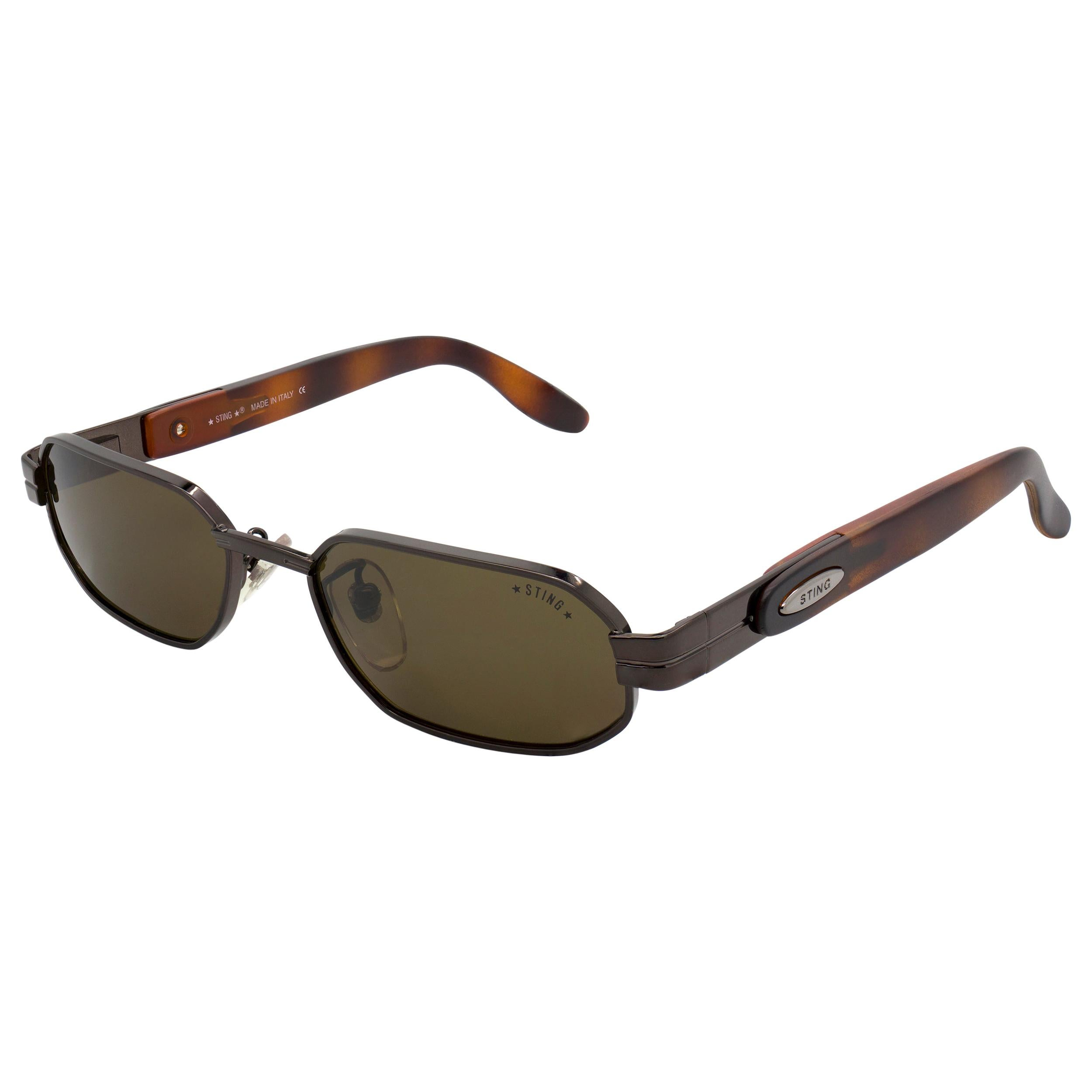 Hexagonal vintage sunglasses by Sting, Italy