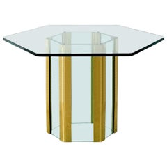 Hexagonal Waterfall Dining Table by Leon Rosen for Pace