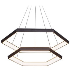 HEXIA CASCADE HXC28 - Black Hexagon Modern LED Chandelier Light Fixture