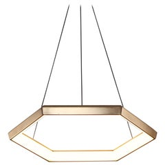 HEXIA HX22 - Brass Hexagon Geometric Modern LED Chandelier Light Fixture