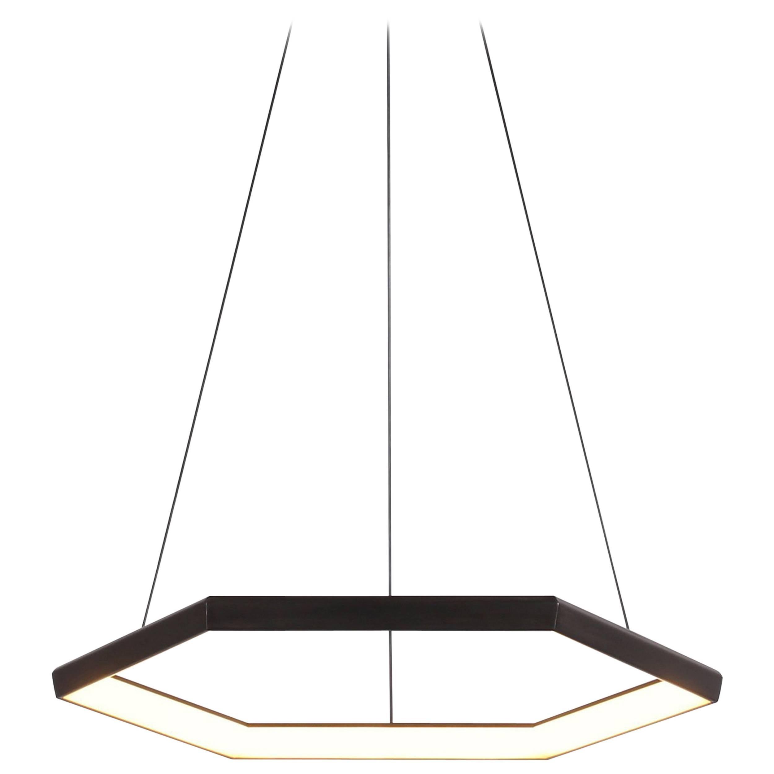 HEXIA HX28 - Black Hexagon Geometric Modern LED Chandelier Light Fixture
