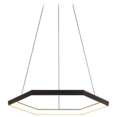 HEXIA HX28 - Black Hexagon Geometric Modern LED Chandelier Light Fixture