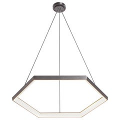 HEXIA HX34, Black Hexagon Geometric Modern LED Chandelier Light Fixture
