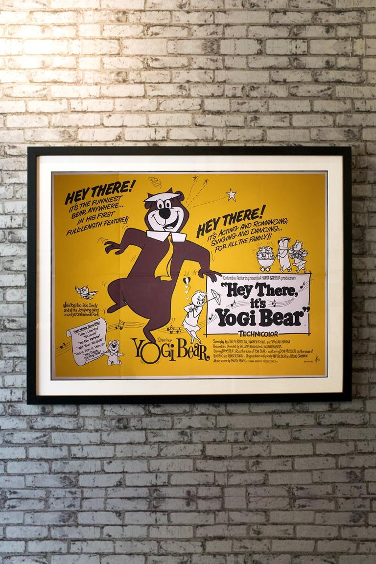 Hey There! It's the funniest bear anywhere... in his first full-length feature!! Hey There, It's Yogi Bear! Is a 1964 American animated musical comedy film produced by Hanna-Barbera Productions and released by Columbia Pictures. The film stars the