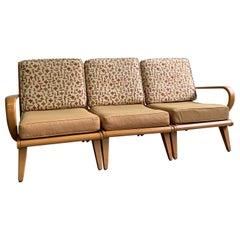 Heywood Wakefield 3-Piece Birch Sectional Sofa