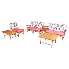 Heywood Wakefield Ashcraft Bamboo Form Six-Piece Living Room Suite, 1950s