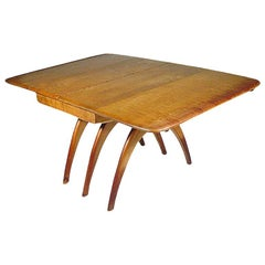 Heywood-Wakefield Butterfly Drop-Leaf Wishbone Dining Table
