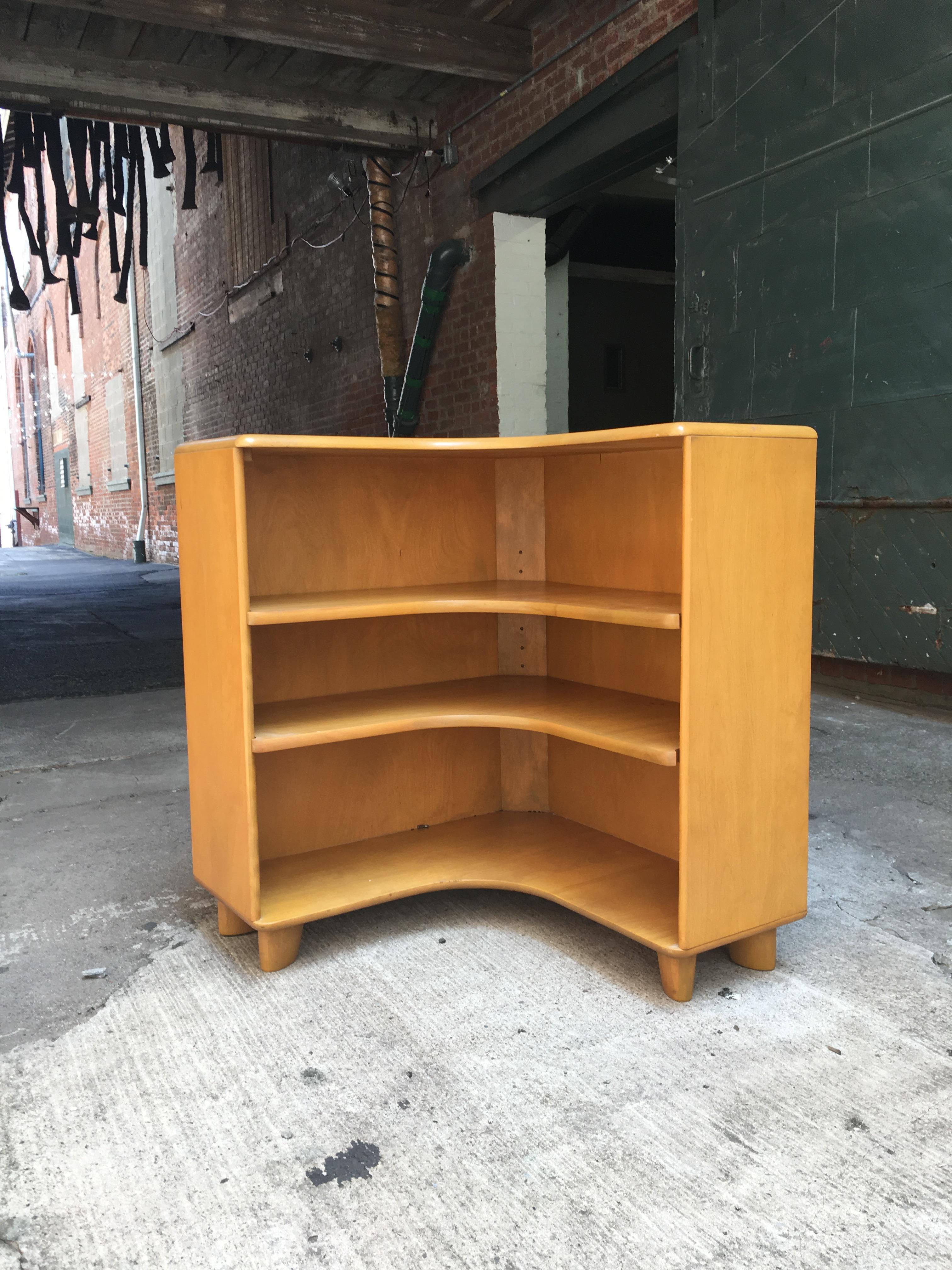 Heywood Wakefield Corner Bookcase C3971