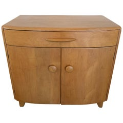 "Heywood-Wakefield ""Crescendo"" Petite Bowed Front Cabinet with Drawer"