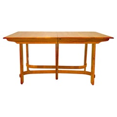 Heywood Wakefield Dining Table by Gilbert Rohde, Two Leaves C2932G