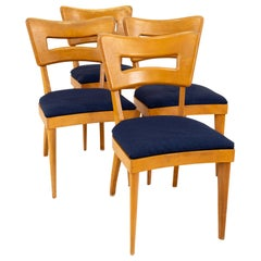Heywood Wakefield Dog Bone Midcentury Solid Wood Dining Chairs, Set of Four
