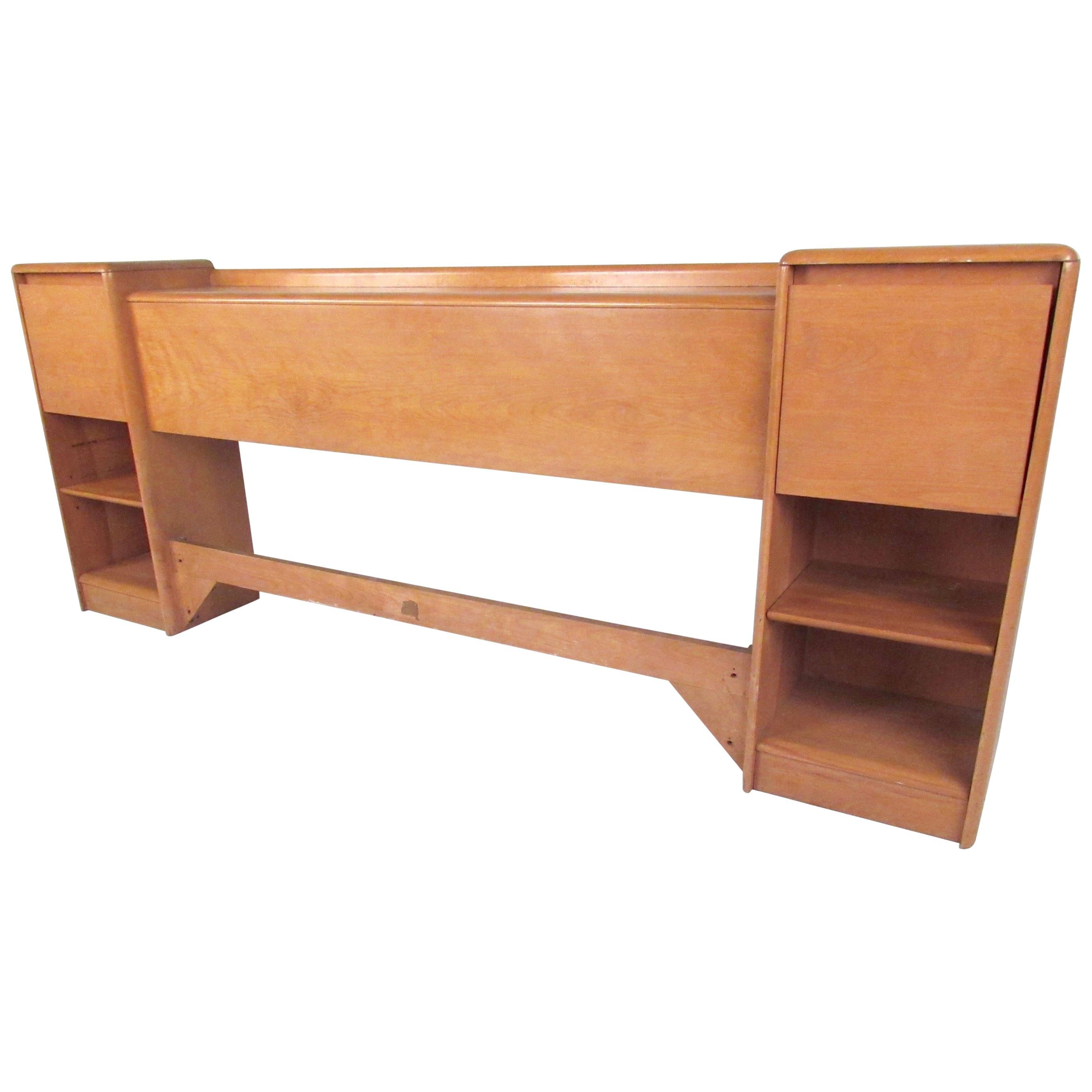 Heywood-Wakefield Full Size Headboard with Nightstands