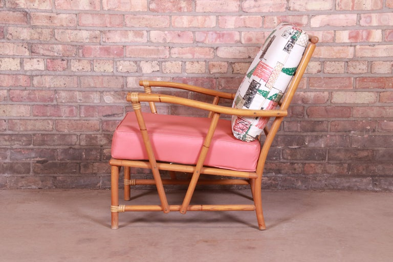 Heywood Wakefield Ashcraft Hollywood Regency Bamboo Form Lounge Chair, 1950s For Sale 5