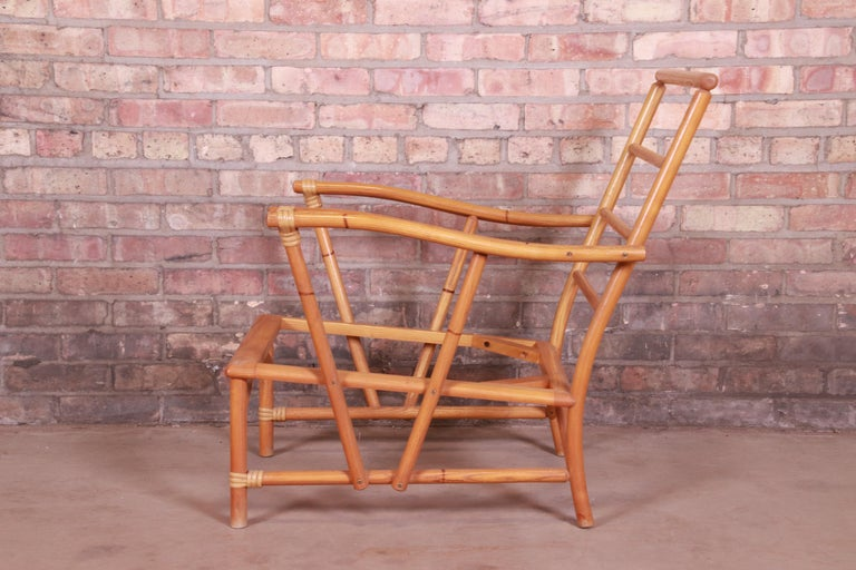 Heywood Wakefield Ashcraft Hollywood Regency Bamboo Form Lounge Chair, 1950s For Sale 7