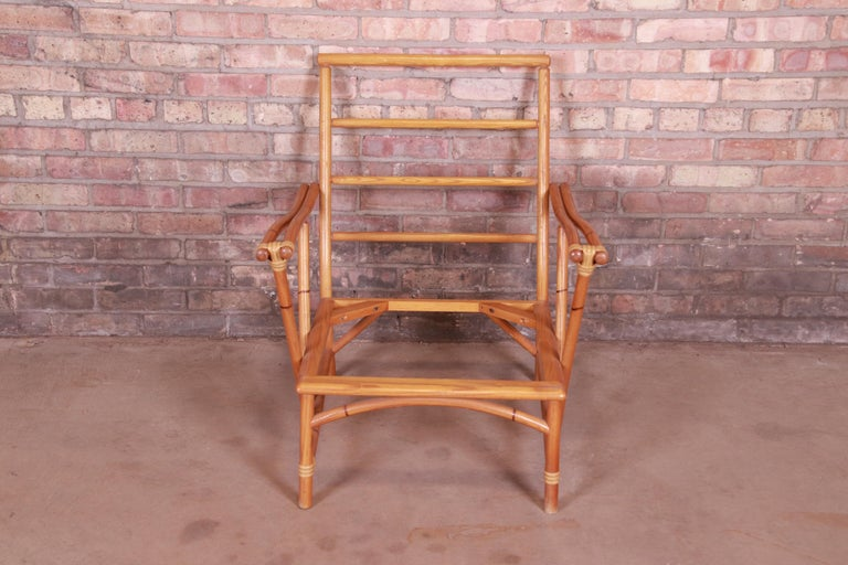 Heywood Wakefield Ashcraft Hollywood Regency Bamboo Form Lounge Chair, 1950s For Sale 8
