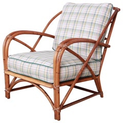 Heywood Wakefield Hollywood Regency Mid-Century Modern Rattan Lounge Chair